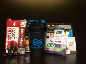 Shaker, Protein Powder, Supplements and Protein Bars
