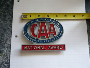 CAA NATIONAL  AWARD  LICENSE PLATE TOPPER
