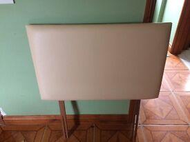 Cream leatherette 3' headboard