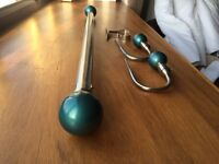 Curtain pole with matching tie backs
