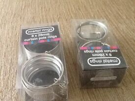 28mm curtain pole rings