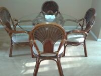 Beautiful Rattan Dining and Livingroom Set