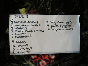 GIRLS SIZE 5 CLOTHES!!!