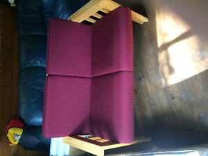 Wooden Red Couch