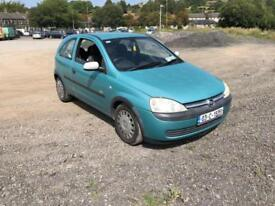 Vauxhall/Opel Corsa 1.0i 12v Club 3 DOOR - 2003 53-REG - ON IRISH PLATES