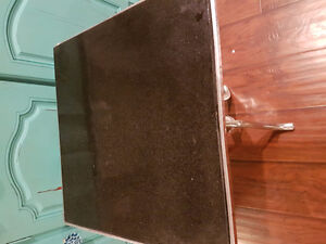 Stone and metal end table ...like new London Ontario image 2