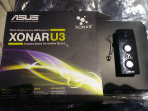 Asus usb sound card and speaker with headphone and mic jack