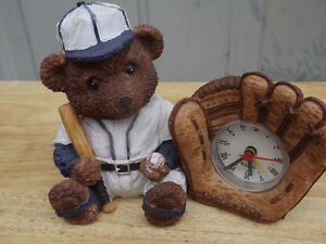 "FS: ""Teddy Bear"" Baseball Player Alarm Clock"