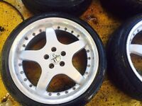 "17"" KESKIN ALLOY WHEELS MK4 GOLF BORA CELICA BETTLE TT IBIZA LEON CUPRA POLO FABIA SET OF 4"