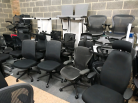 Selection of Office furniture office chairs herman miller steelcase or