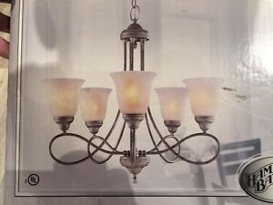 "24"" silver finish 5 light chandelier"