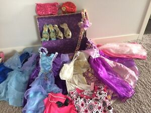 Trunk of princess dress up clothes and accessories