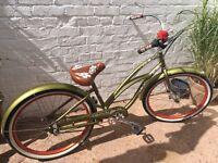 Electra Hawaii Custom 3I Women's Urban bike - olive, 26 inch
