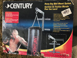 Punching bag and wall mount set. $50