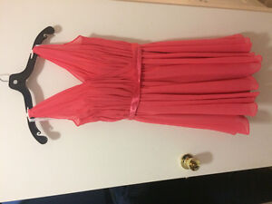 Size 6 Coral Prom/Wedding Dress. Perfect condition