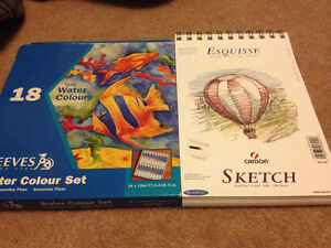 NEW Reeves water colour set 18 pack + Art Sketch pad 100 sheets