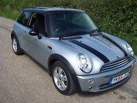 2005 55 Plate Mini 1.6 Cooper In Silver with Black Roof , New Arrival