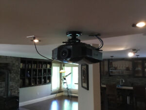 Sony Projector and 106 inch Screen