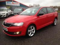 14 SKODA RAPID SPACEBACK 1.6 DI SE CR RED