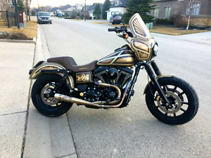 CUSTOM 2014 Harley Dyna FXDL Low Rider BEAUTIFUL ONLY 3900 KMS
