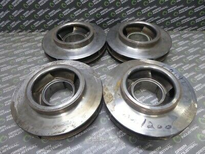 Lot Of 4 Boiler Feed Pump Impellers 2nd5th8th And 9th Stage 5 Vanes 8x8