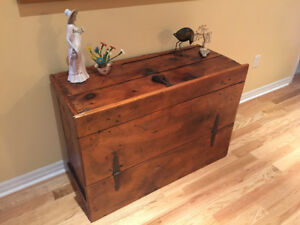 Antique, Solid Wood Barn Door Coffee Table!  Gorgeous!