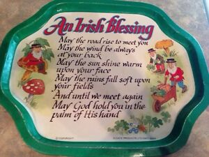 Elegate Irish tin tray