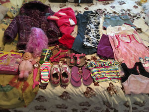 FREE GIRLS CLOTHES, SHOES - approx. 4 years old
