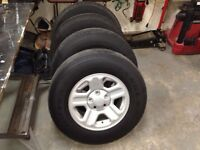 5 JEEP WRANGLER STEEL RIMS