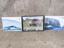 3x Nissan car showroom framed posters