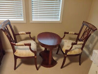 Ashley Furniture Antique Tea Table Set (1 Table + 2 Chairs)