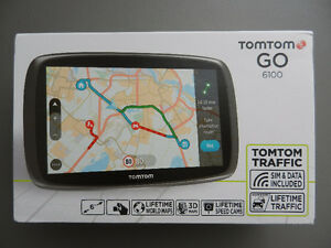 "NEW TOMTOM GO 6100 GPS 6"" - FREE WORLD MAPS"