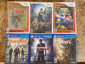 Wii and PS4 games