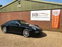 2006 56 PORSCHE 911 3.8 CARRERA 4 S 2D 350 BHP BLACK METALLIC, 62K