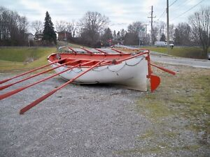 life boat and oars