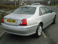2003 03 REG Rover 75 1.8 Club SE MOT UNTIL FEBRUARY 2018