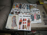 sewing patterns,shoulder pads and pkgs elastic