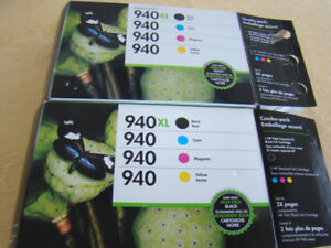TWO new and  FOUR used   # 940 HP INK PRINTER CARTRIDGES