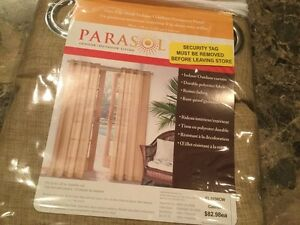 PARASOL INDOOR/OUTDOOR CURTAIN PANEL – NEVER USED!