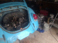 parting out vw Beetle