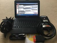 "Full dealer level auto car diagnostic tool latest 15.3 Delphi, WoW & Haynes pro in 10.1"" Netbook"