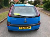 2001 Vauxhall Corsa 1.2i 16v a/cComfort Mot 02/2019 2 Keys drive Nice Low Miles
