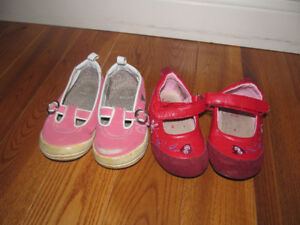 2 pairs of baby girl shoes