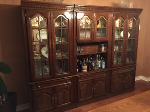 THREE PIECE WALL UNIT-EXCELLENT CONDITION 400.00 or best offer