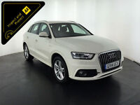 WHITE 2014 AUDI Q3 S LINE TDI ESTATE 140 BHP 1 OWNER FROM NEW FINANCE PX