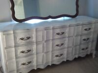 French provincial dresser 9 drawer