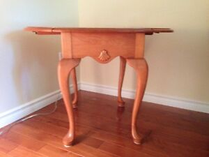 Roxton Solid Maple Wood Side Table $75