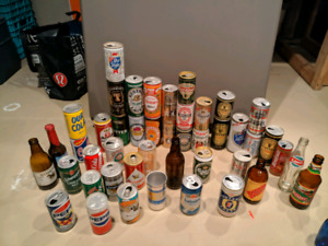 Old Beer bottle and can collection