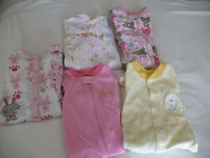 Baby Girl's Sleepers  Size 6 Months