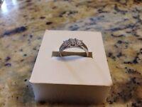 14kt white gold 1.00 carat diamond weight